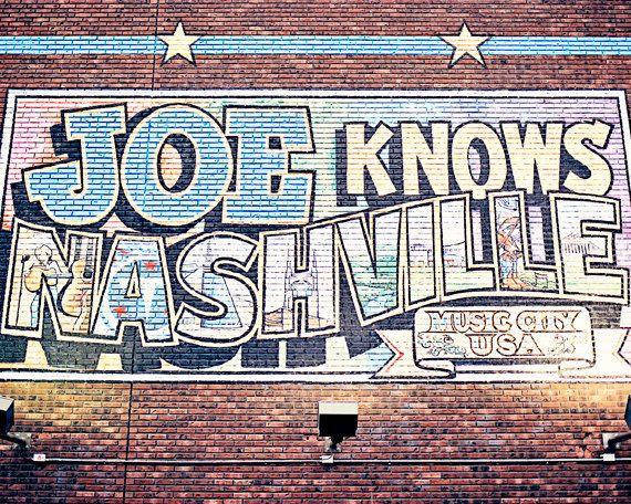 Nashville Print Urban Decor Joe Knows Nashville Sign Photography Mural Man Cave Apartment Nashville Deco Industrial Wall Art Sign Photography Photo Print Sizes