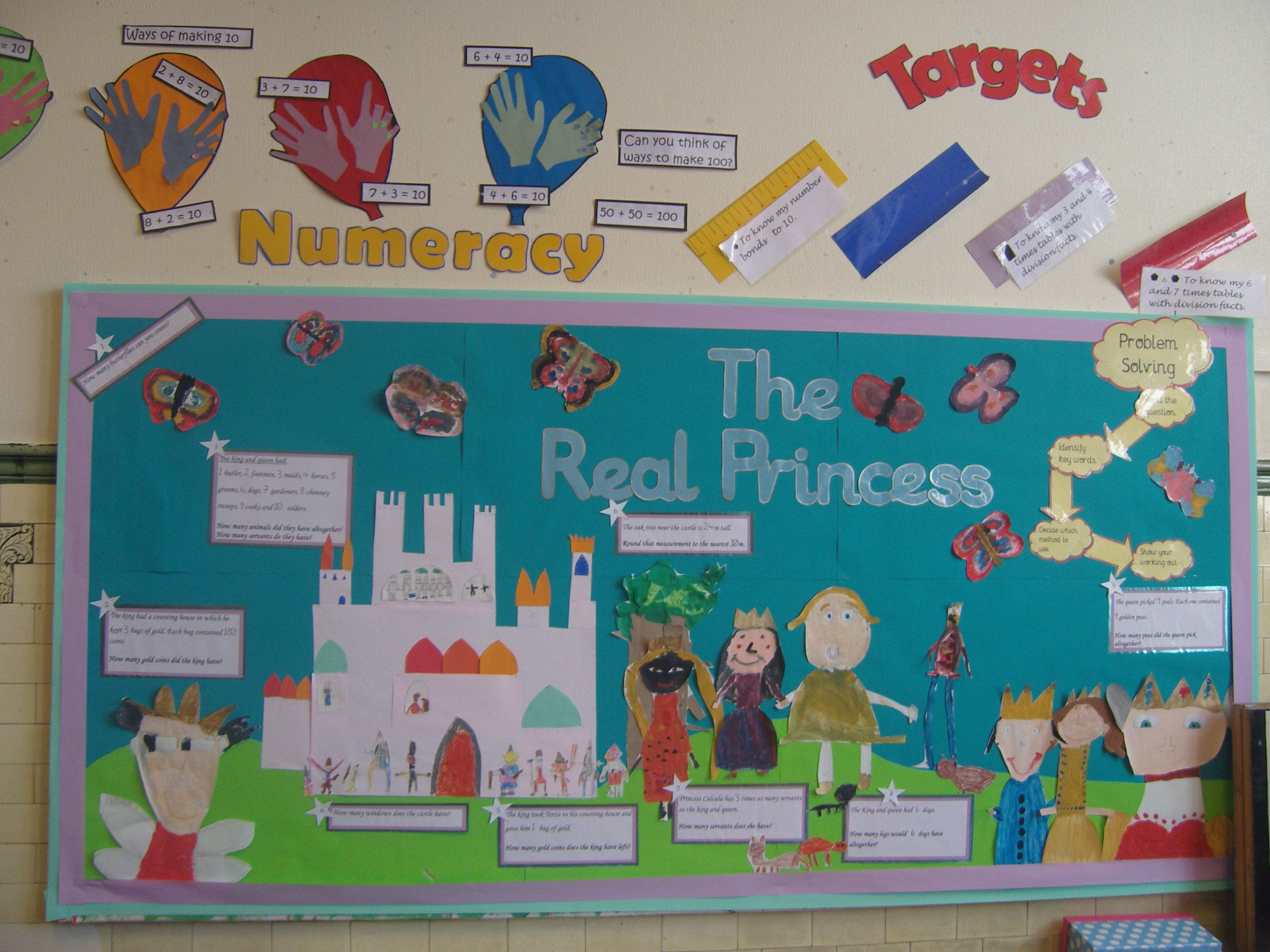 My Y3 Maths display based on \'The Real Princess\' by Brenda Williams ...