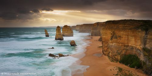 12 Apostles, minus a few Victoria  It's sad to think that at some stage in the unpredictable future, erosion will take its toll and this iconic view will be of piles of rubble. For now, we can still enjoy some of the more distant apostles still remaining!  .[Deviant Art Gallery] [Facebook] [Web Gallery] [500px]