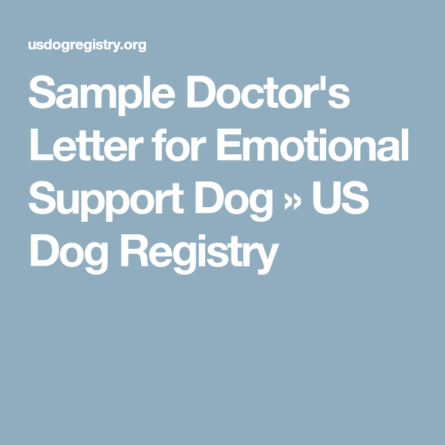 sample doctor u0026 39 s letter for emotional support dog