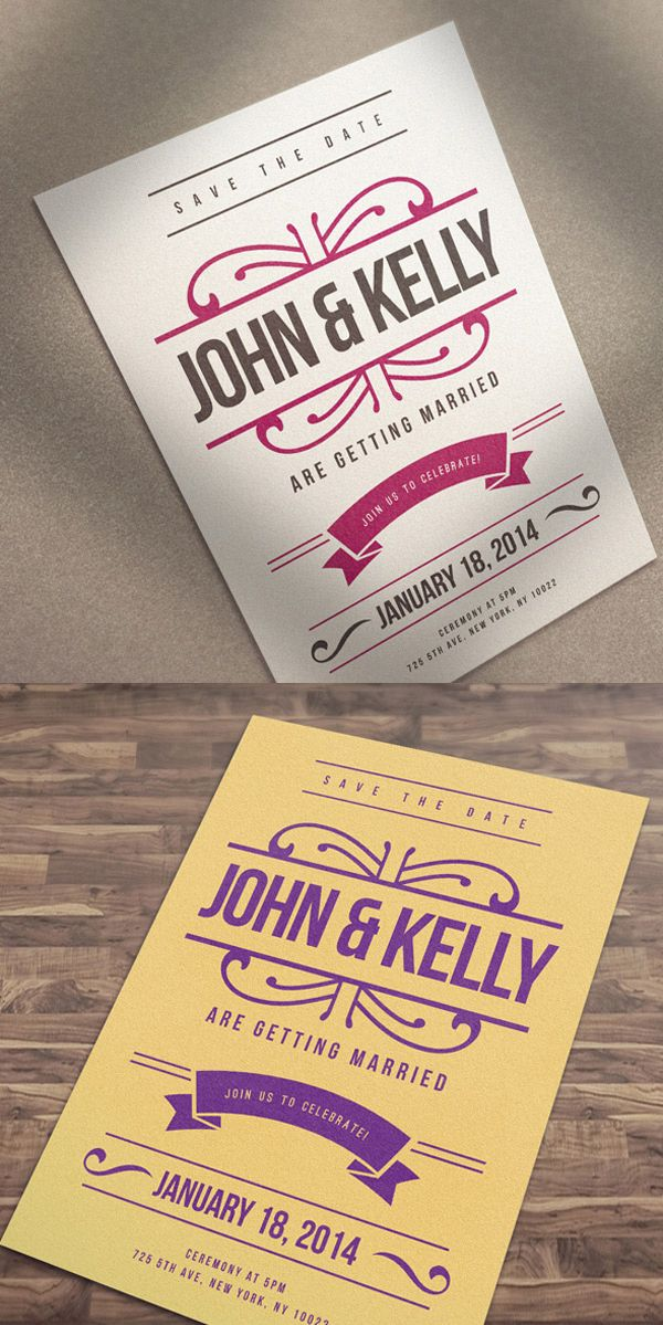 Free Elegant \ Vintage Wedding Invitation   Card #freebies - best of invitation card wedding format