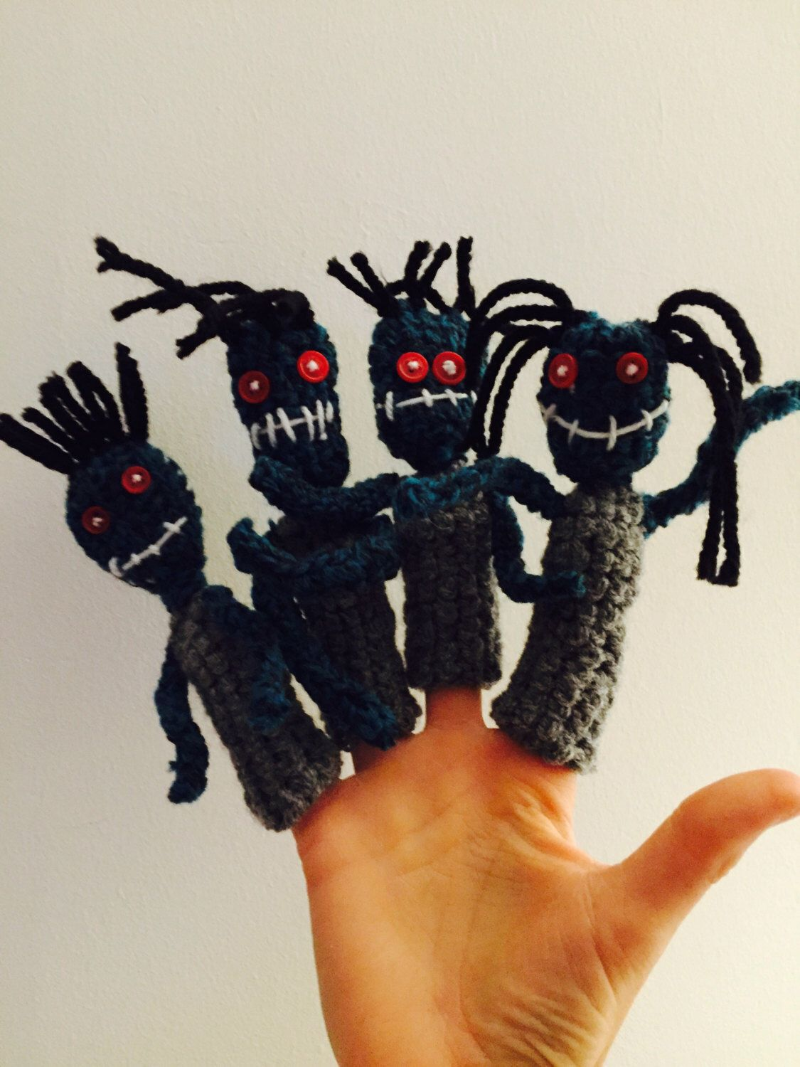 A personal favourite from my Etsy shop https://www.etsy.com/uk/listing/398878627/zombie-finger-puppets