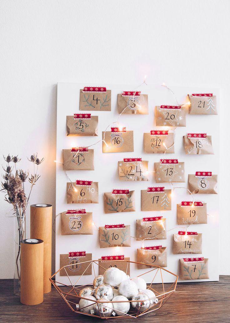 { DIY } Adventskalender selber basteln mit #pilotpen & 24 Ideen für die Füllung #adventkalenderbasteln