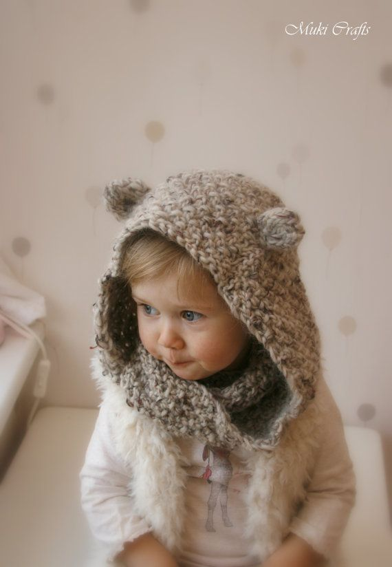 Knitting Pattern Hooded Infinity Scarf Willow Child And Adult Sizes