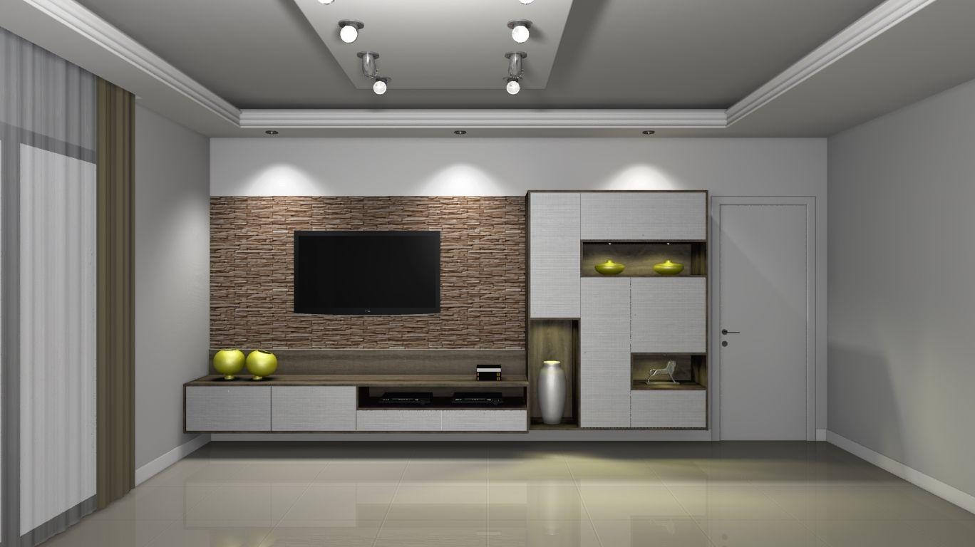 Galeria promob galeria de projetos sala tv que for Sala de estar con tv