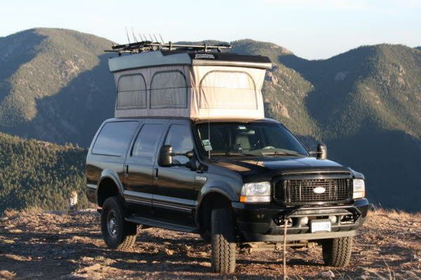 Ford Excursion Pop Up Conversion By Colorado Campervan Ford Excursion Ford Trucks Excursions