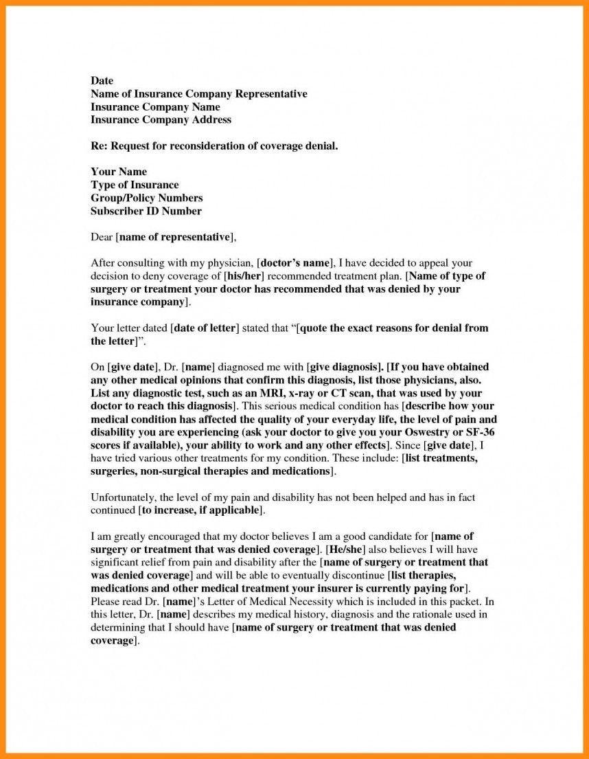 Insurance Denial Letter Template Five Common ...