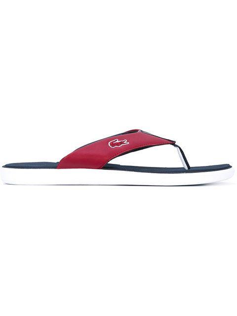 dd57b77d7 LACOSTE Striped Trim Flip Flops.  lacoste  shoes  sandals