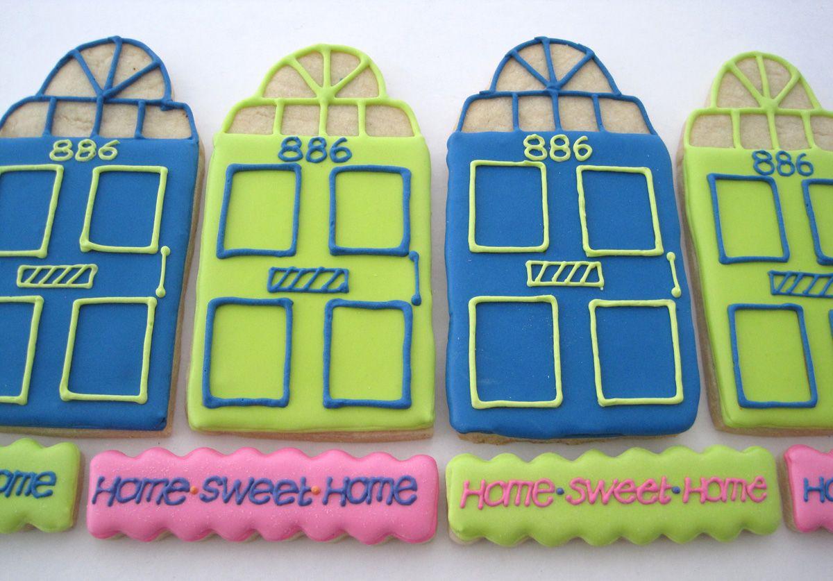 Front door cookies my welcome neighbor u thanks cookies