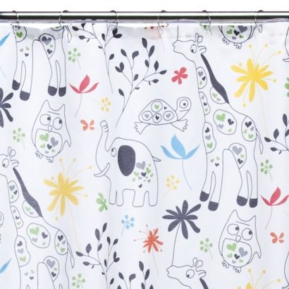 Zoological Shower Curtain Kids Fabric Kids Shower Curtain Animal Shower Curtain Fabric Shower Curtains
