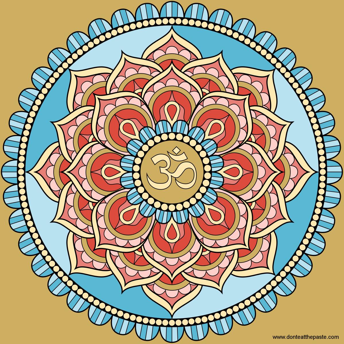 Don T Eat The Paste Lotus Mandala Mandala Drawing Mandala Design