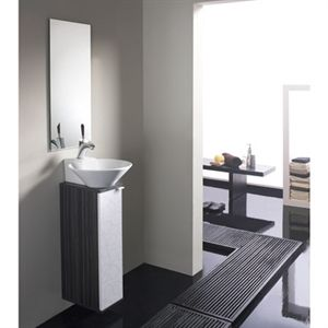 Conjunto de ba o modelo biarritz de 20 cm especial para for Modelos de muebles para banos pequenos