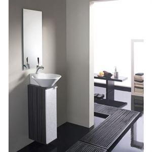 Conjunto de ba o modelo biarritz de 20 cm especial para for Muebles para espacios reducidos