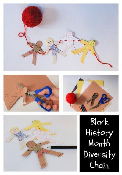 Kids Activities: Black History Month Diversity Chain