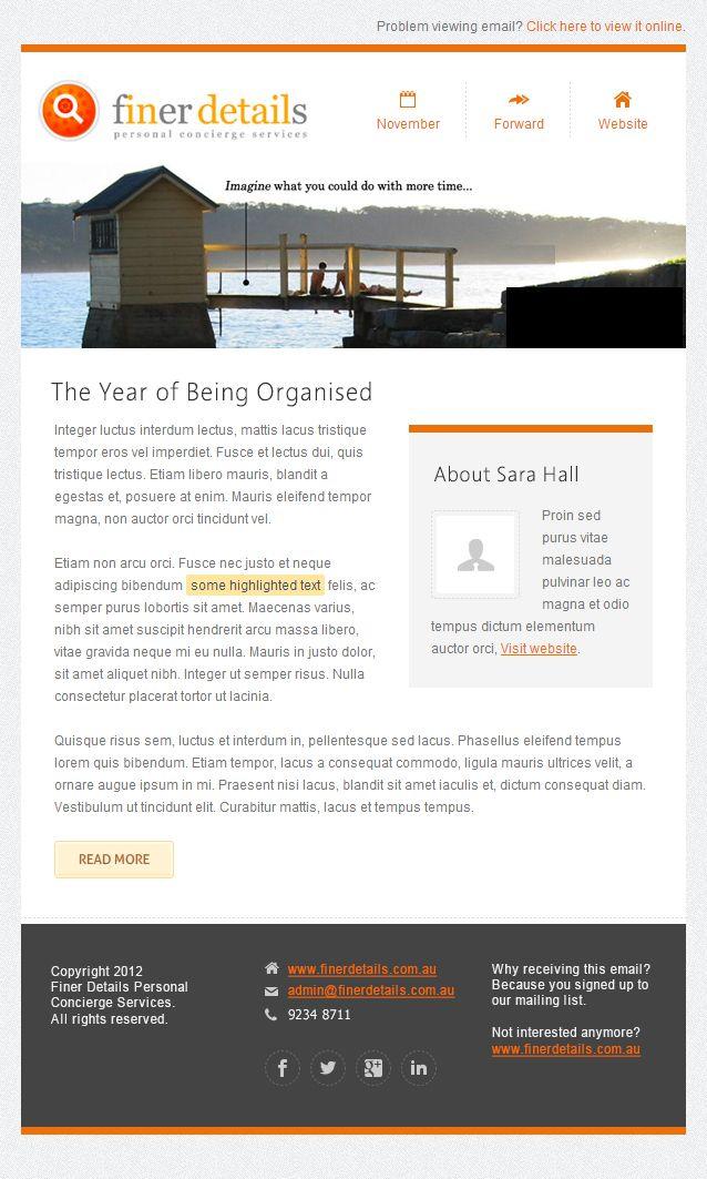 Contemporary style business email newsletter design for for Modern newsletter design