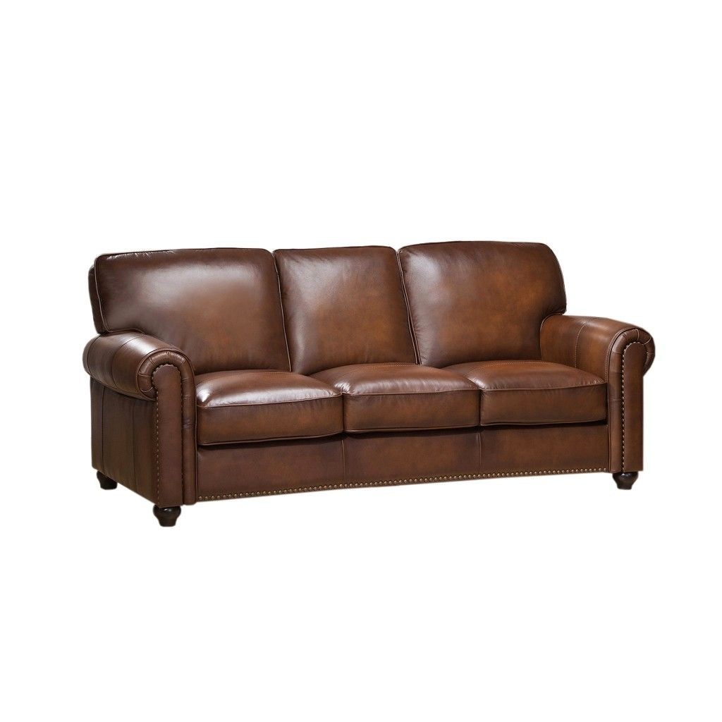 Royale Olive Brown Genuine Leather Sofa With Nailhead Trim Leather Living Room Furniture Leather Sofa And Loveseat Leather Living Room Set Leather sofas with nailhead trim