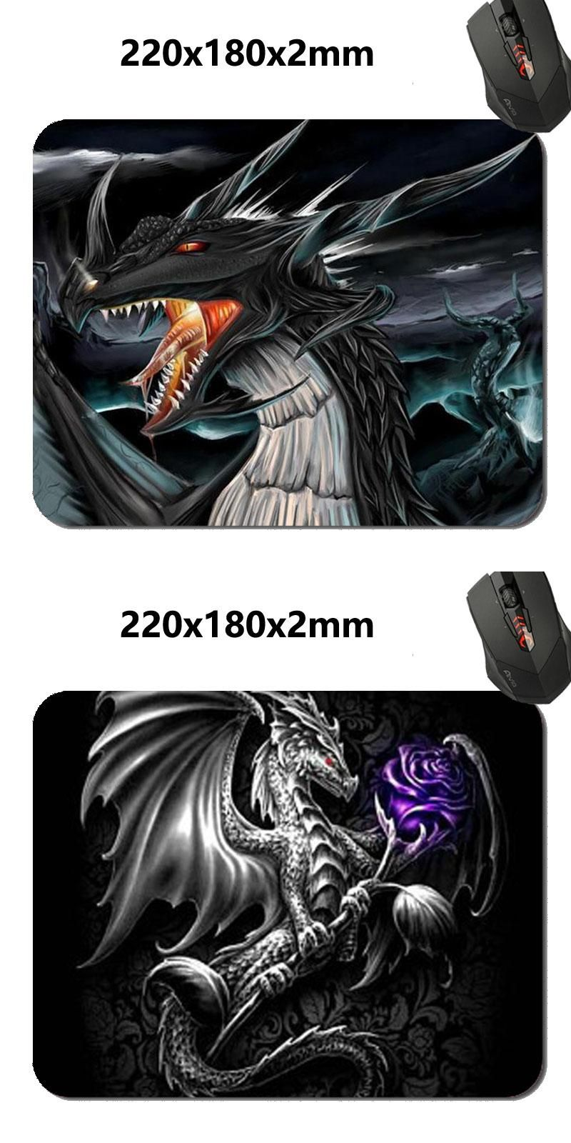 [Visit to Buy] 180*220*2mm FineMousePad Silver Dragon Customized Mouse Pad Oblong Desktop Mousepad Rectangle Non-Slip Gaming Mouse Pads 9... #Advertisement