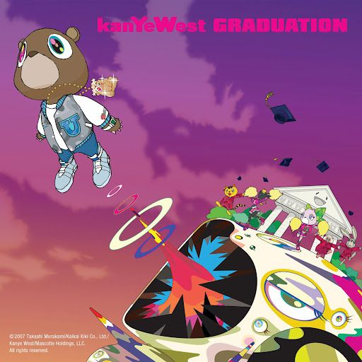 Kanye West Takashi Murakami Good Morning Kanye West Album Cover Graduation Album Rap Album Covers