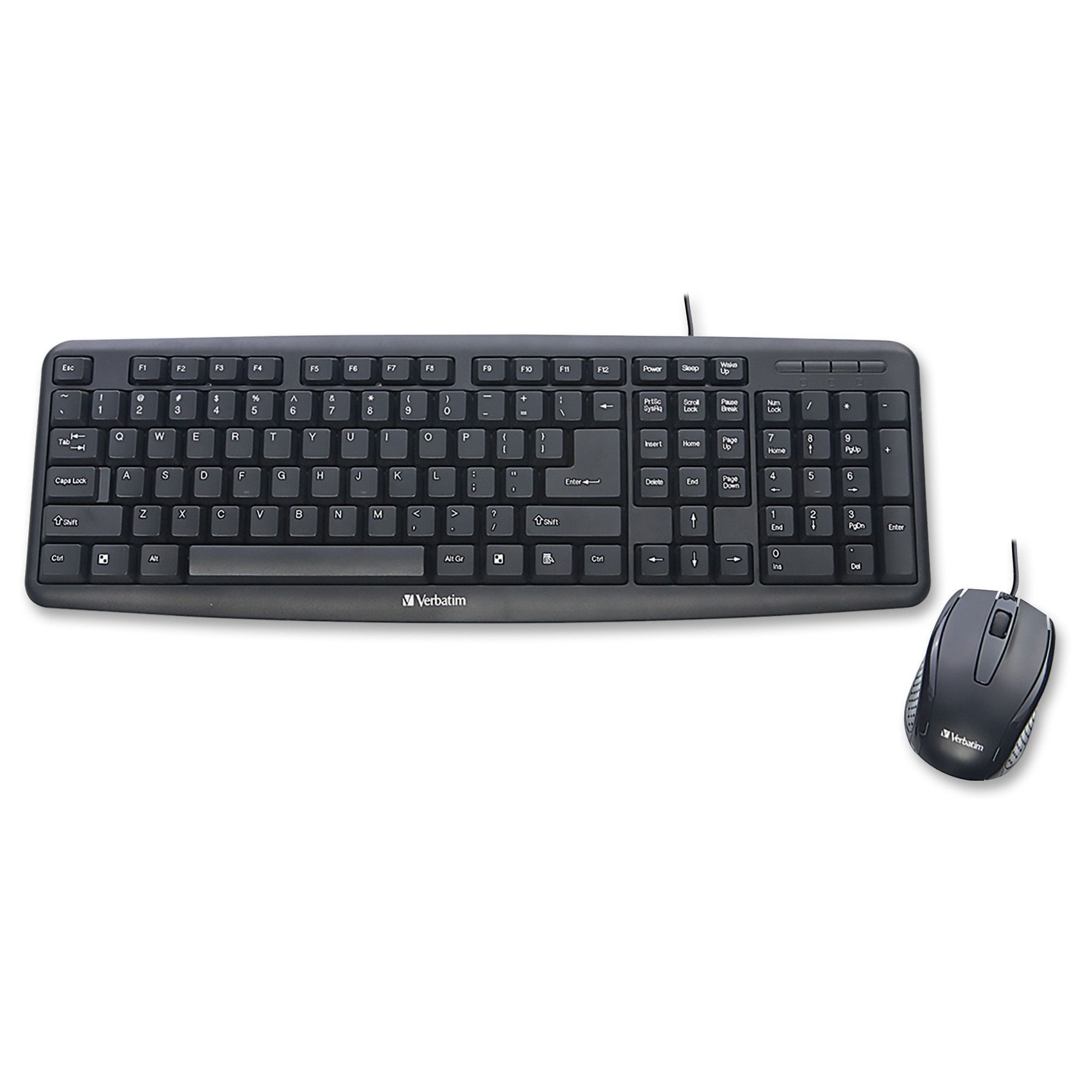 c597d3cd1ca78 Verbatim Slimline Corded USB Keyboard and Mouse-Black