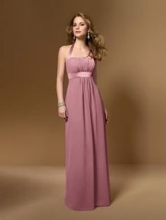 Dusty rose color wedding dress