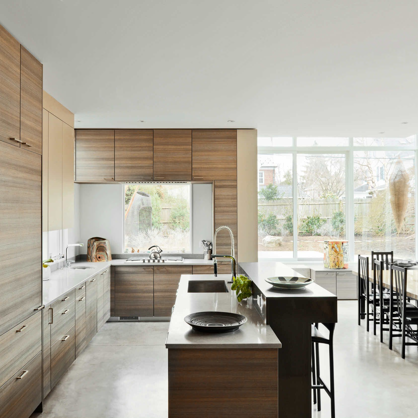 The old galley kitchen had to go. In its place, a fully-equipped ...