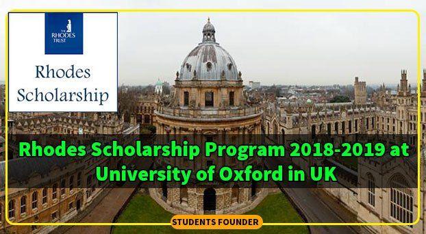 rhodes scholarship program 2018