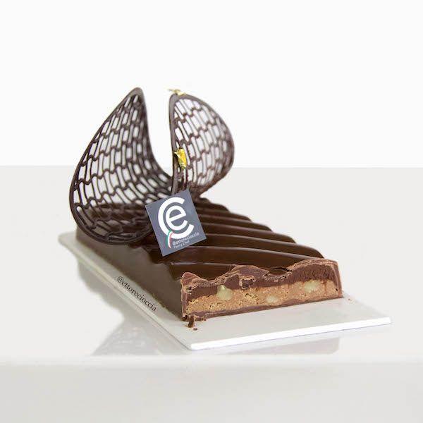 Turrón de Chocolate y Café con Crujiente de Praliné