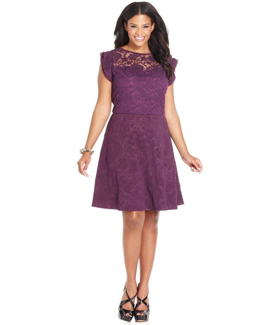 purple plus size dress   Bridesmaid dresses   Pinterest   Party wear ...