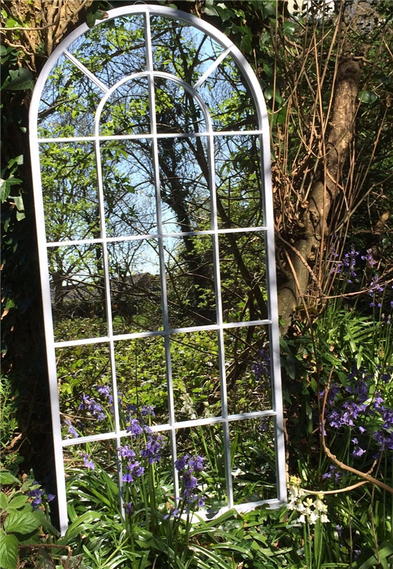 Tall Curved Arch Top Metal Garden Mirror   Garden Mirrors. Outdoor Mirrors & Illusion Mirrors   Products