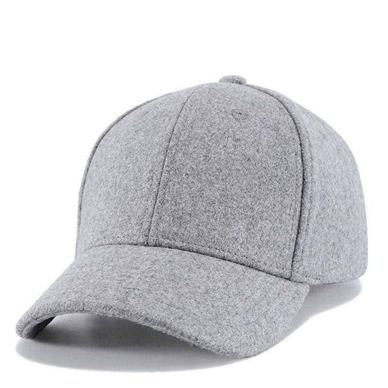 03b8ce23c8a MNKNCL High Quality Autumn Winter Wool Baseball Cap Men Women Outdoor Sport  Caps Snapbacks Bone Polo Caps