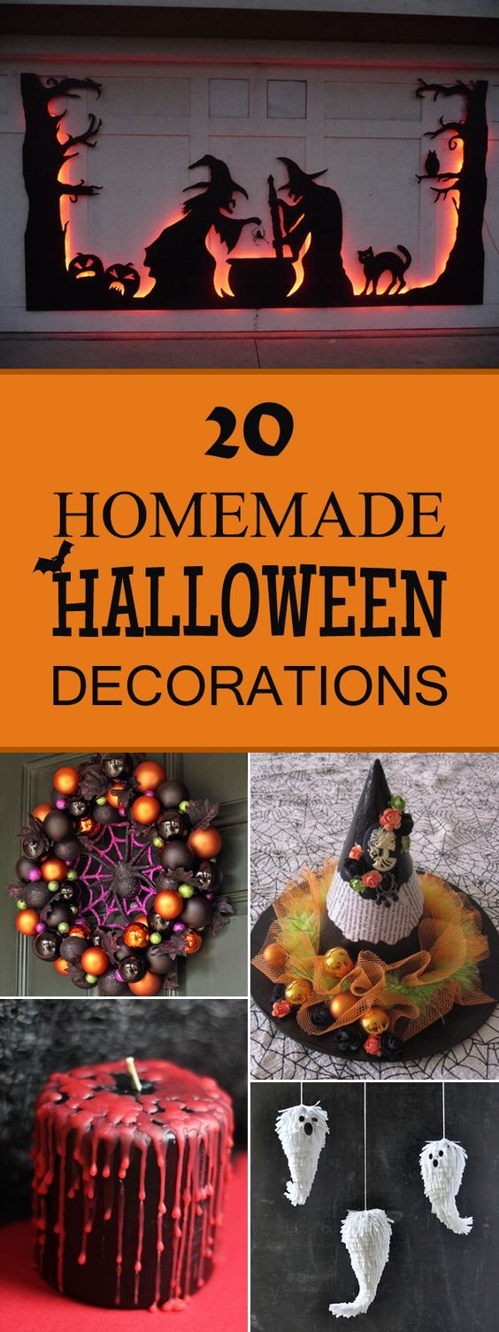 20 Super Cool Homemade Halloween Decorations Pinterest Homemade - Homemade Halloween Decorations