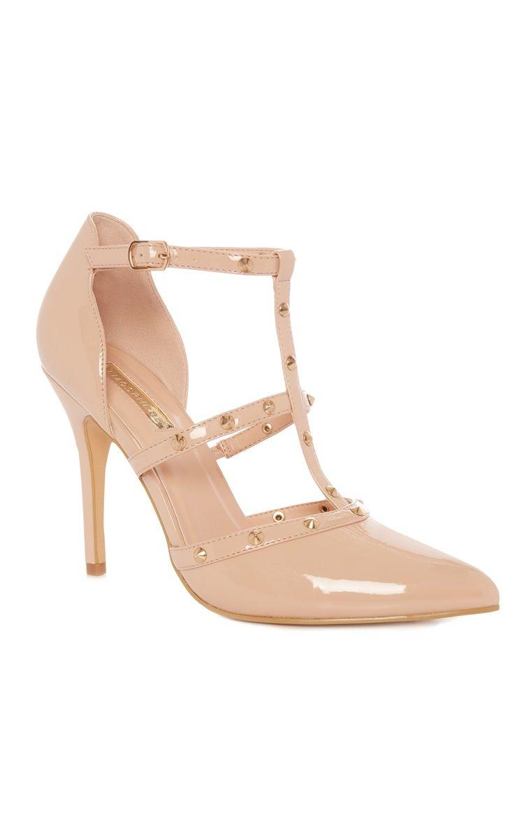 401cdfb941 Primark - Nude Stud Heels | Dresses | Primark heels, Studded heels ...