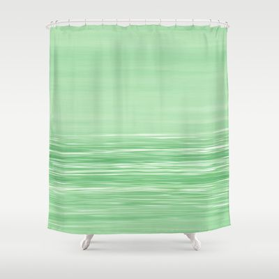 Seascape Green Shower Curtain By Alice Gosling 68 00 Seascape
