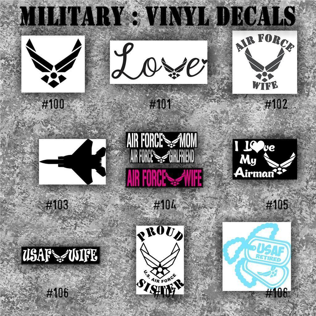 Car window sticker designs - Military Vinyl Decals 100 108 Vinyl Stickers Car Window Decal Personalized