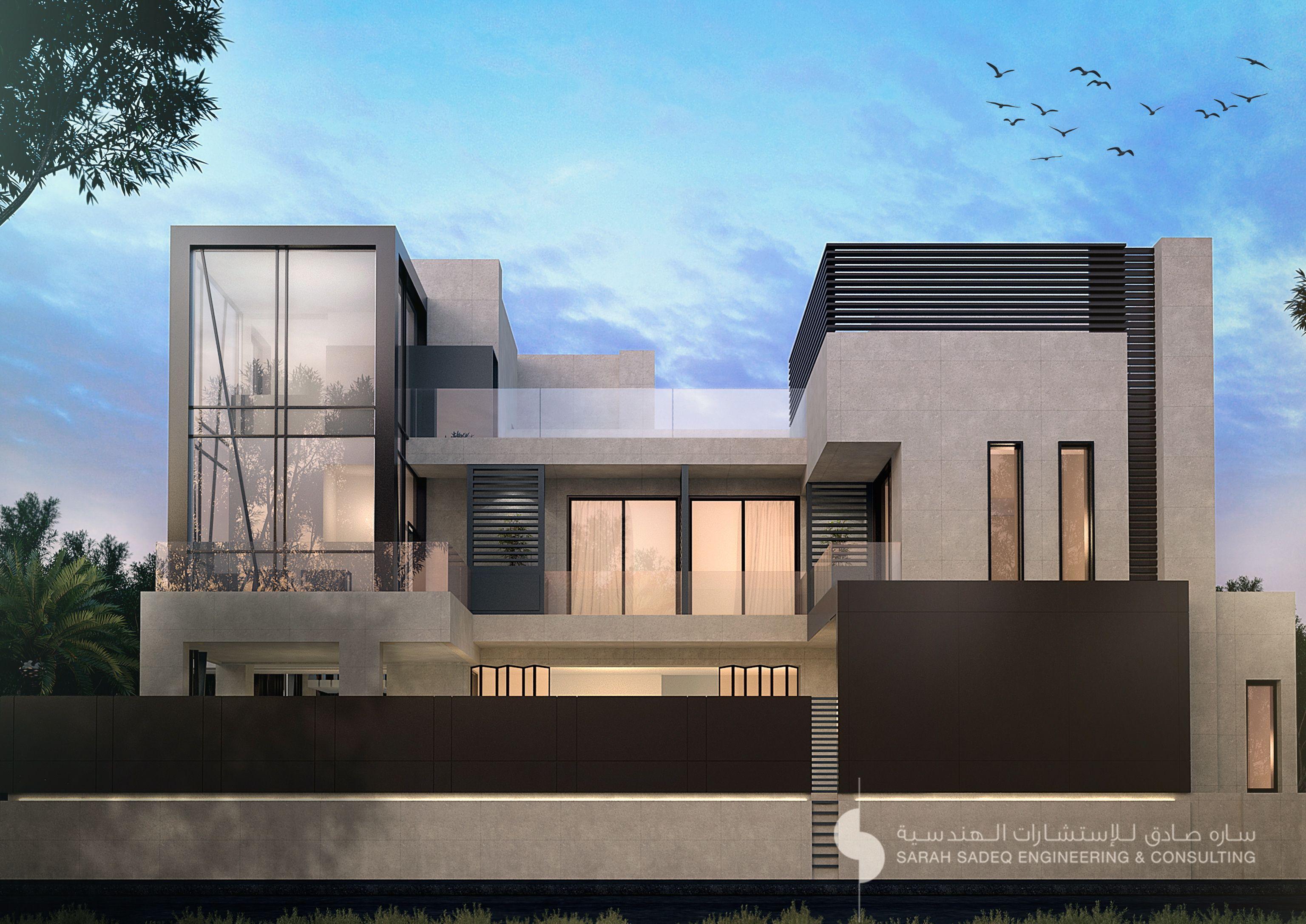 private villa 400 m Kuwait sarah sadeq architects | sarah sadeq ...