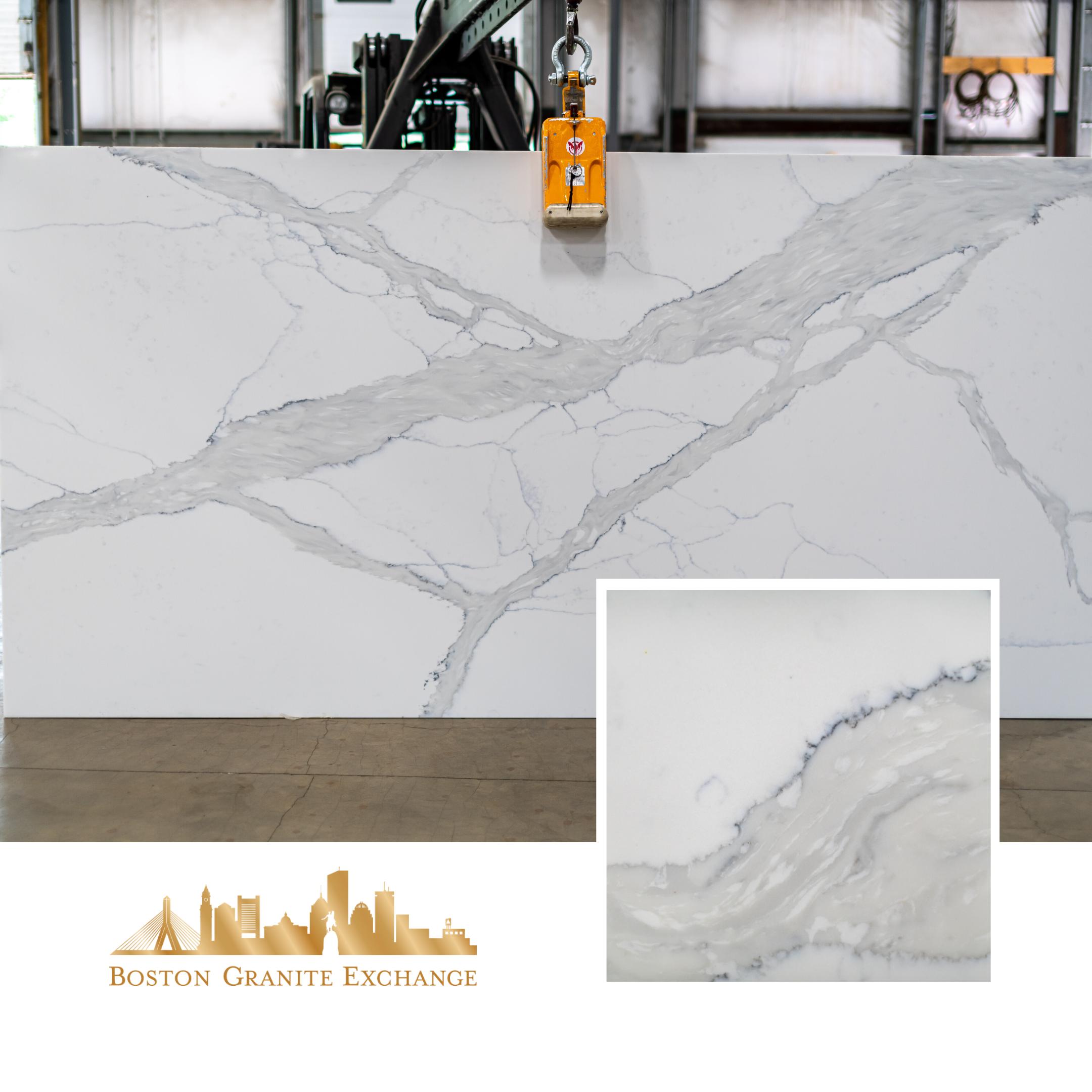 Quartz Boston Granite Exchange Ma Stone Wholesaler In 2020 Calacatta Quartz Quartz Countertops Calacatta