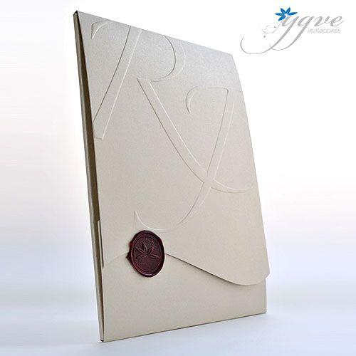 14f52662f8507 Ideas para invitaciones de boda  Invitaciones de boda con sellos de lacre