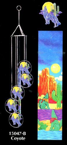 Howling Coyotes - Wolves 5 Large Ring Colorful Laser Cut Wind Chime - Mobile Effect Wind Chime Garden http://smile.amazon.com/dp/B005PO5AC4/ref=cm_sw_r_pi_dp_h8V7tb1A9654Q