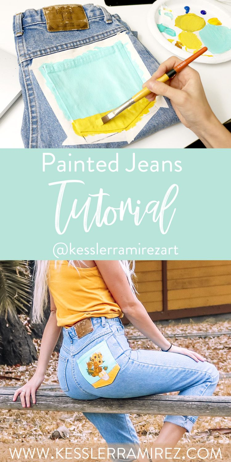 How To Paint On Jeans 5 Steps With