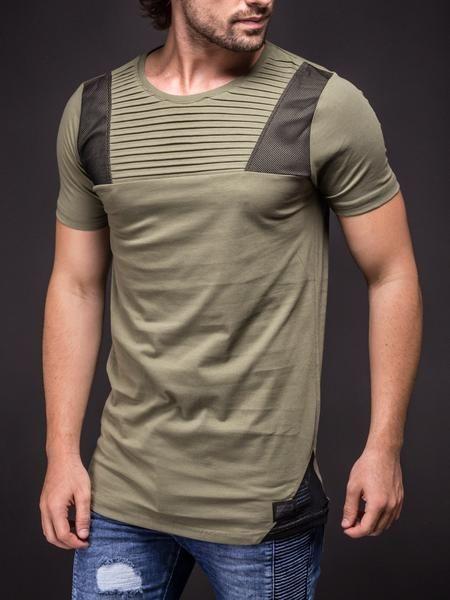 74d1837dbb7f N&R Men Ridges Mesh T-shirt - Army Green | Shirt | Ropa casual ...