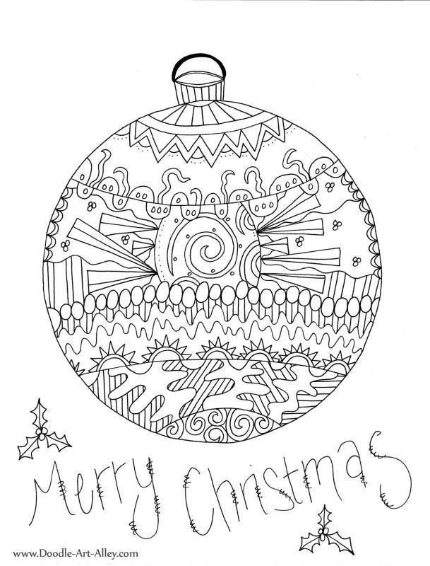 Kleurplaten Kerst Volwassenen.Kerstbal Kleurplaten Kerst Kaarten Kleurplaten En Kerstmis