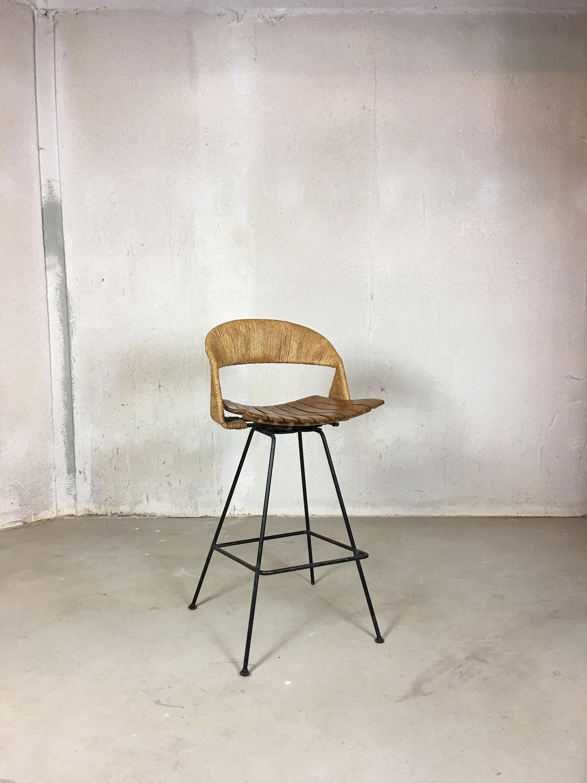 Arthur Umanoff Swivel Bar Stool Modern Bar Stool Counter Height