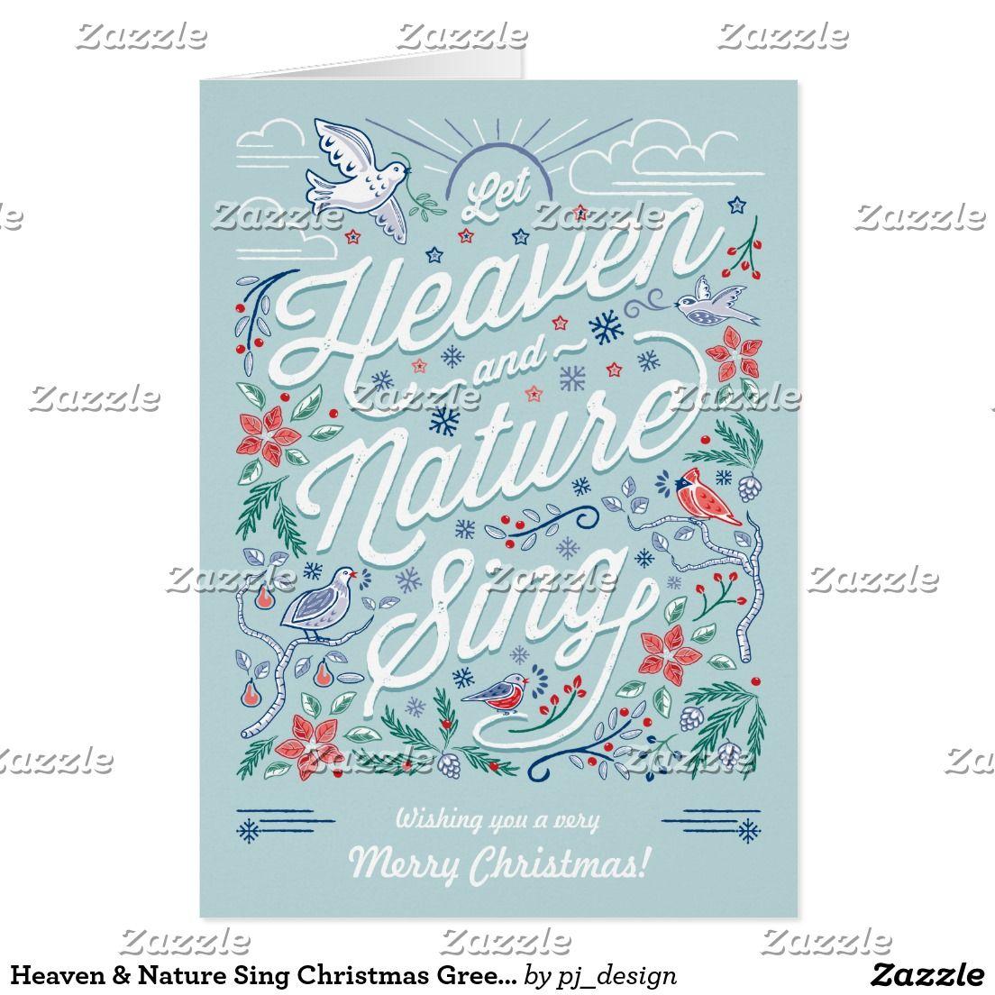Heaven & Nature Sing Christmas Greeting Card Mint | Christmas ...