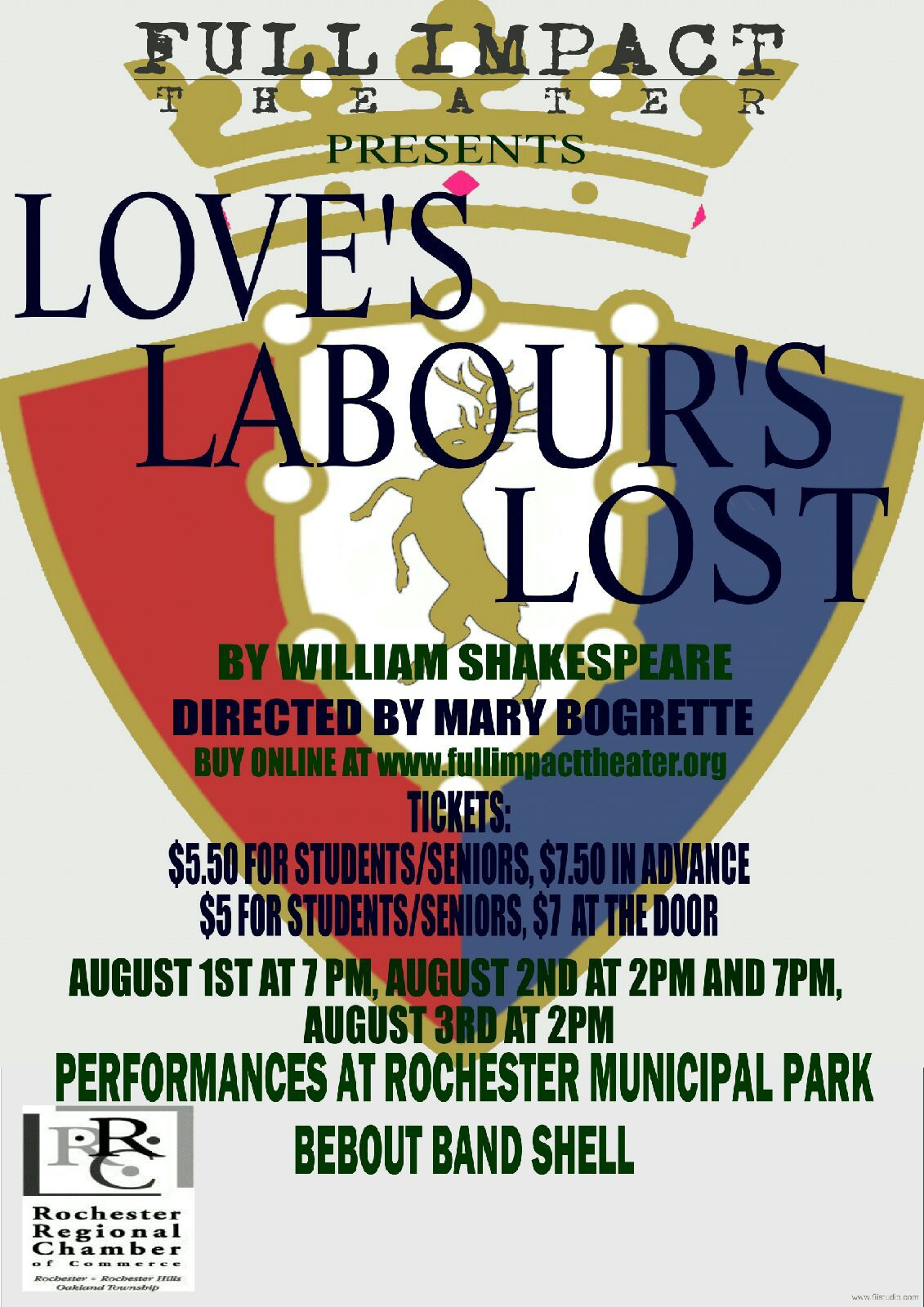 Full impact theater shakespeares loves labours lost
