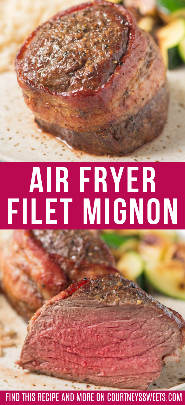 Air Fryer Bacon Wrapped Filet Mignon Steak