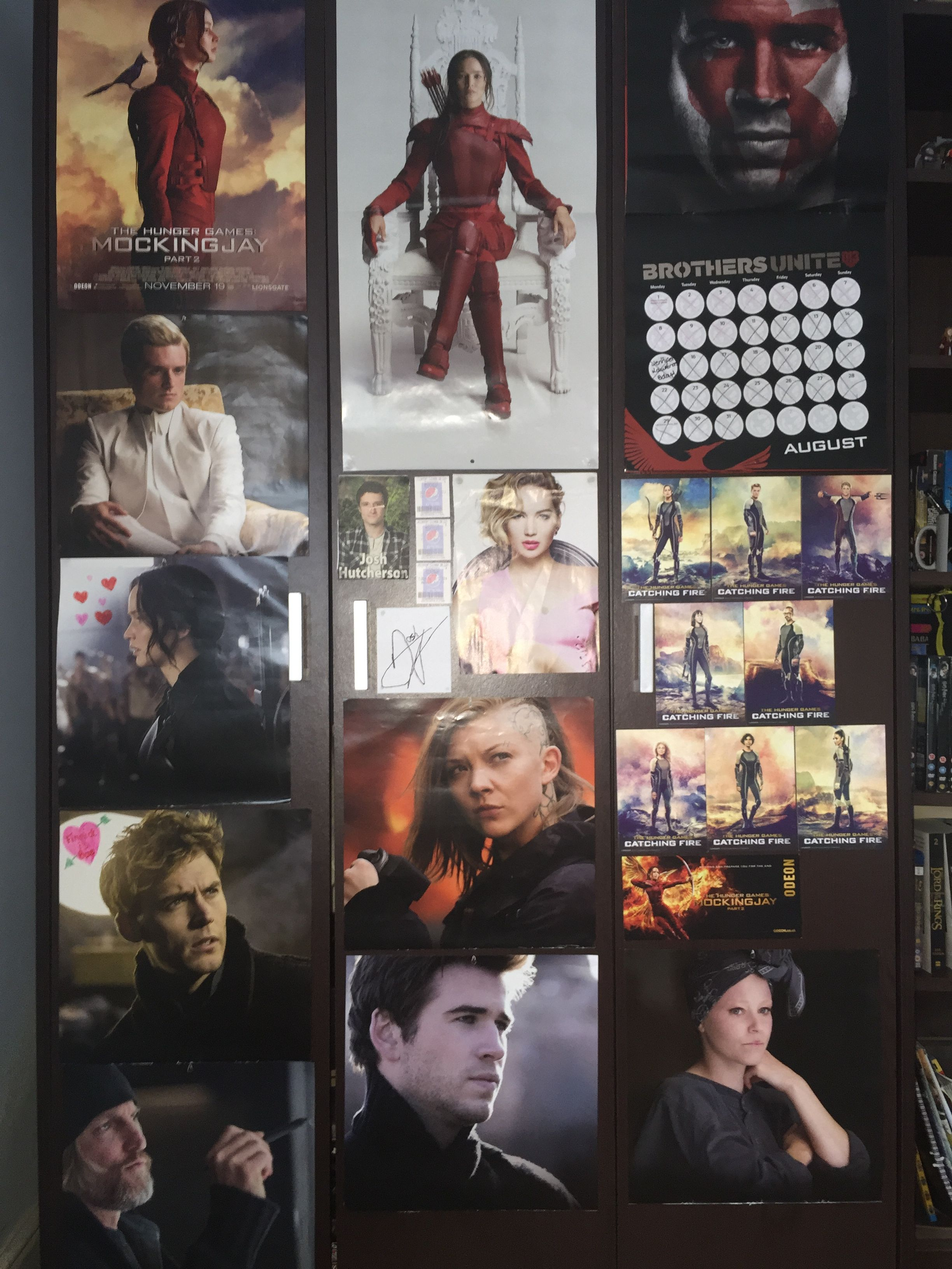 ~Hunger Games Collage~ For this I just got afew posters ...