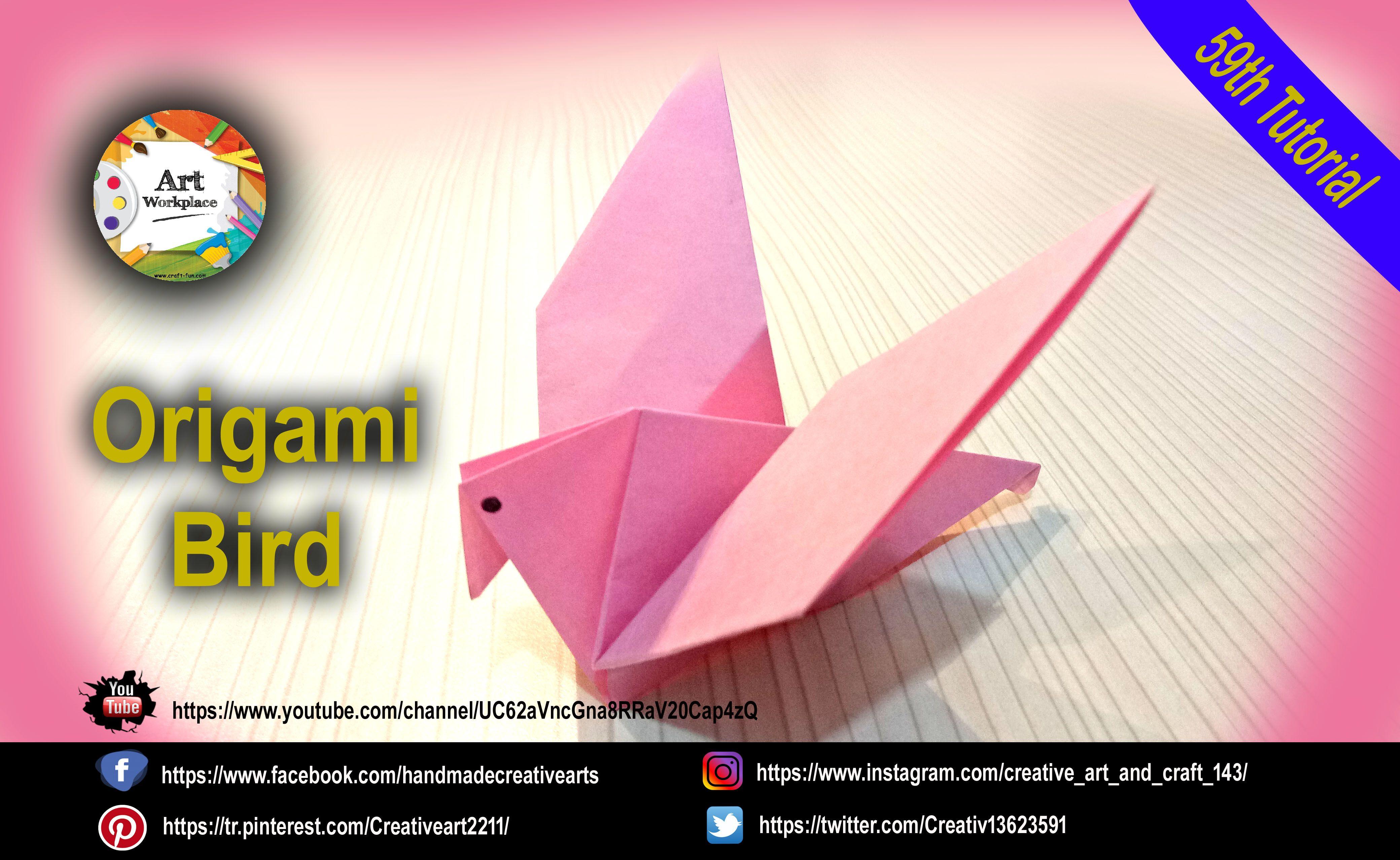 Origami Flapping Bird | Origami flapping bird, Origami bird ... | 2556x4160