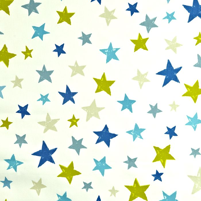 Kinderzimmer sterne blau  Kinderstoff 'Bunte Sterne' blau/grün/türkis/beige | Pinterest ...