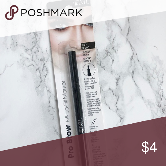 b07f59fdc5b Ardell MicroFill Marker 2-prong tip Fills in brows with precise, natural  hair-like lines Precise definition Quick-Drying Long-Lasting Smudge-Proof  Dark ...