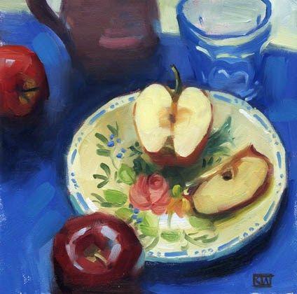"Daily Paintworks - ""Apples"" - Original Fine Art for Sale - © Kathy Weber"